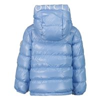 Picture of Moncler 1A55920 baby coat light blue