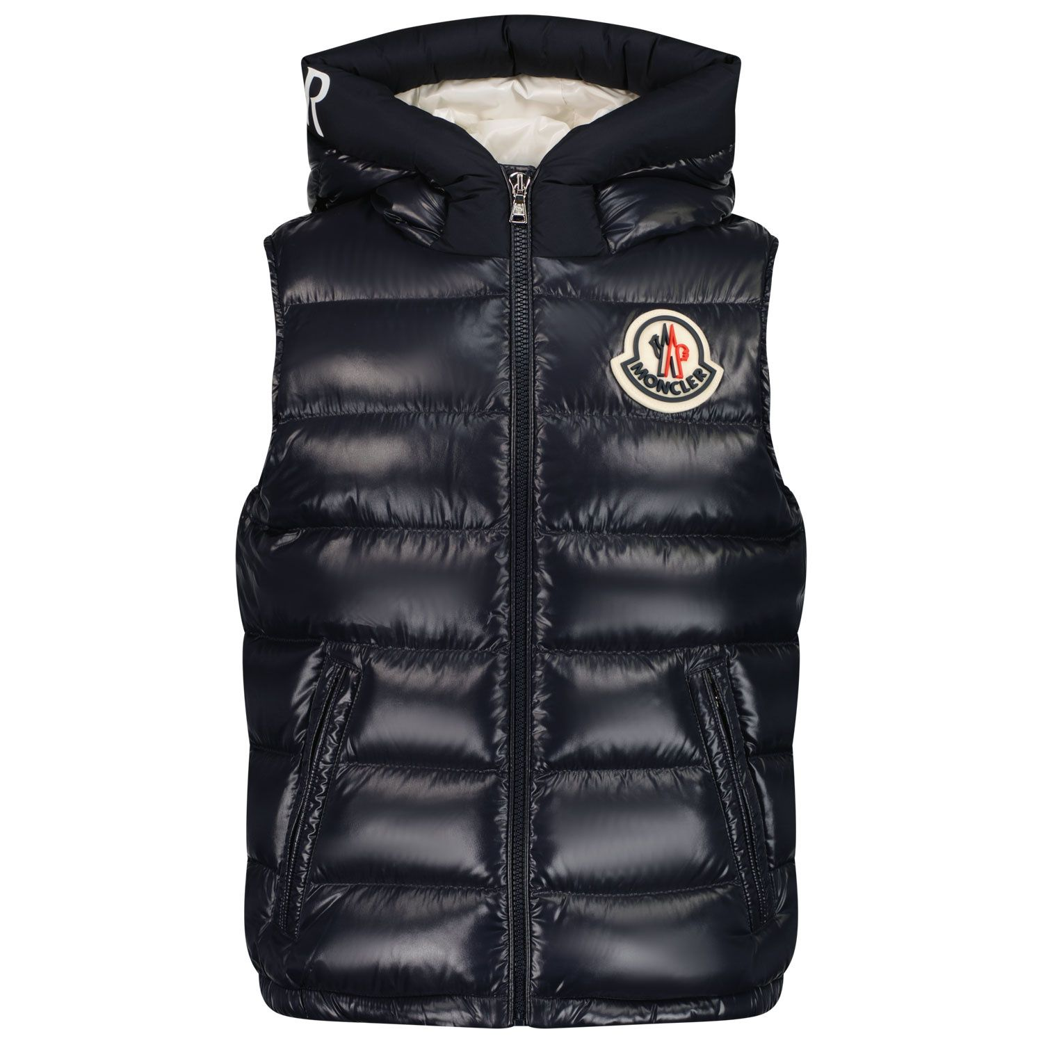Picture of Moncler 1A52G20 kids jacket navy