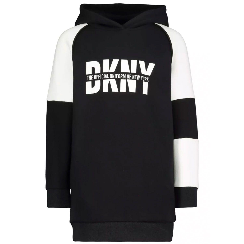Picture of DKNY D32758 kids dress black