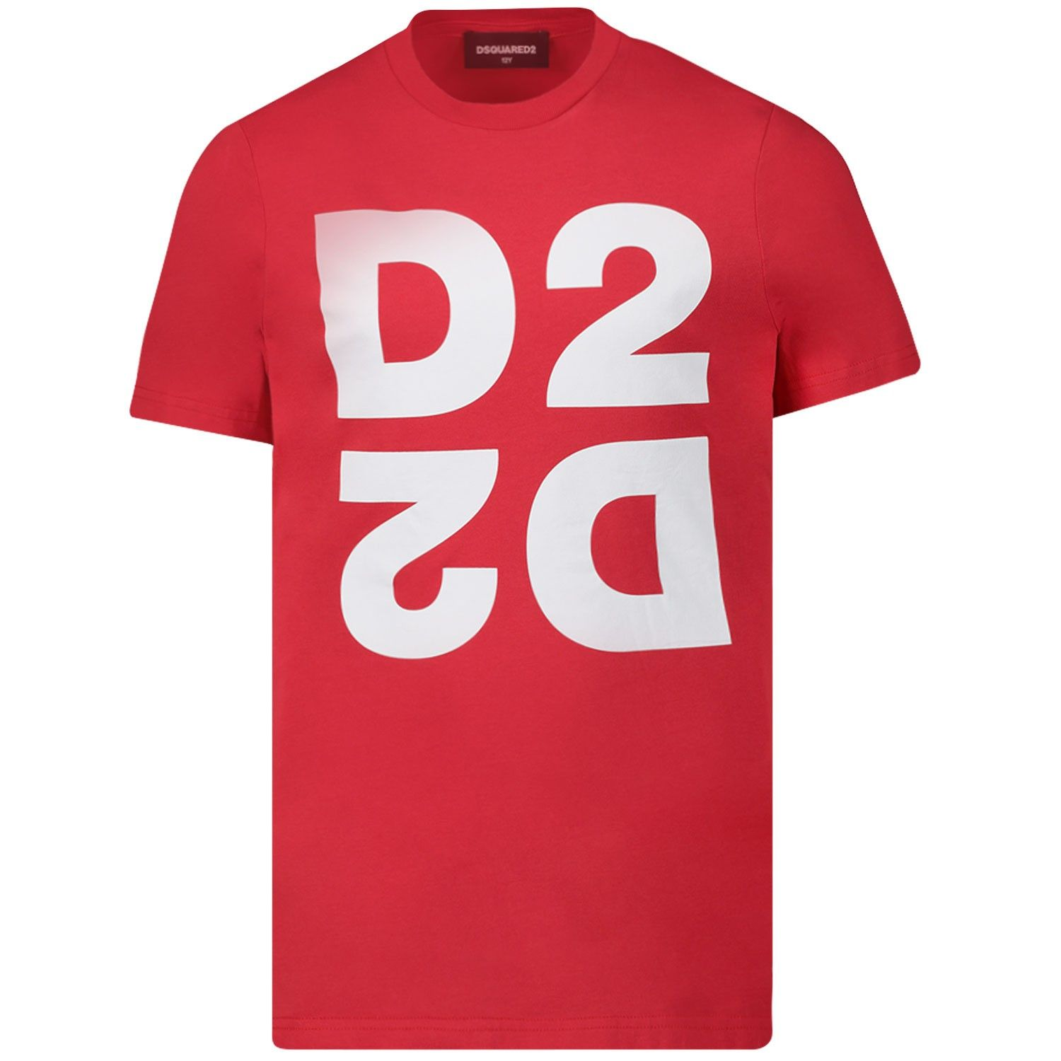 Picture of Dsquared2 DQ03WI kids t-shirt red