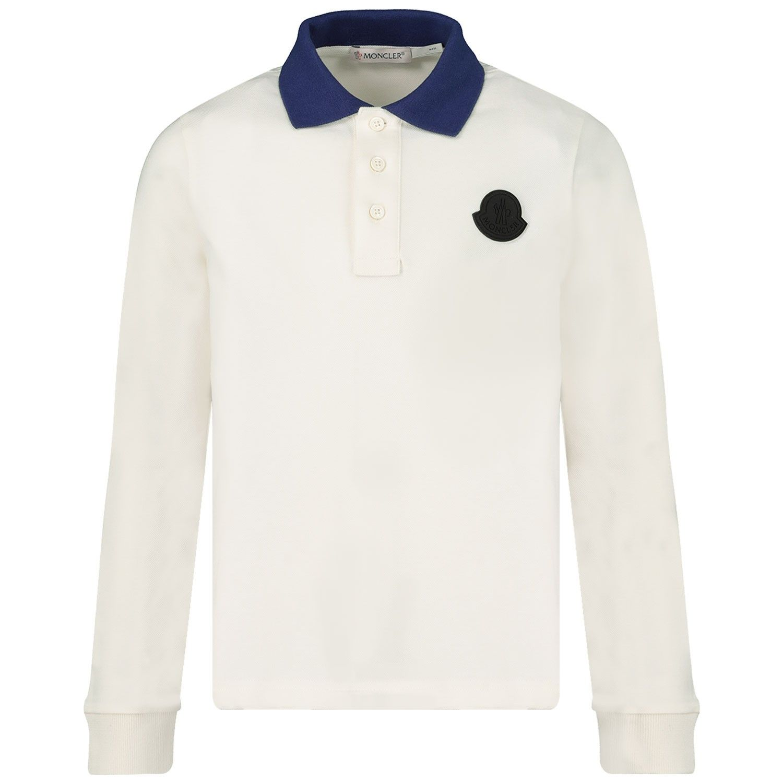 Bild von Moncler 8312105 Kinder-Poloshirt Creme
