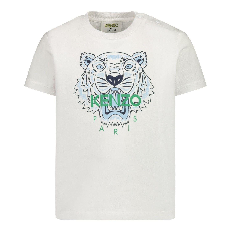 Afbeelding van Kenzo KR10768BB baby t-shirt wit