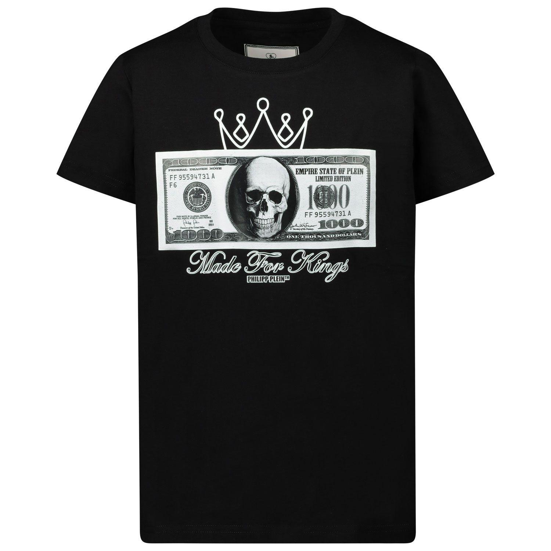 Afbeelding van Philipp Plein F20C BTK1023 kinder t-shirt zwart