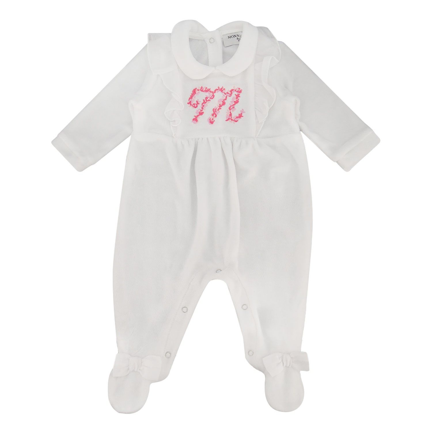 Picture of MonnaLisa 355202R5 baby playsuit white