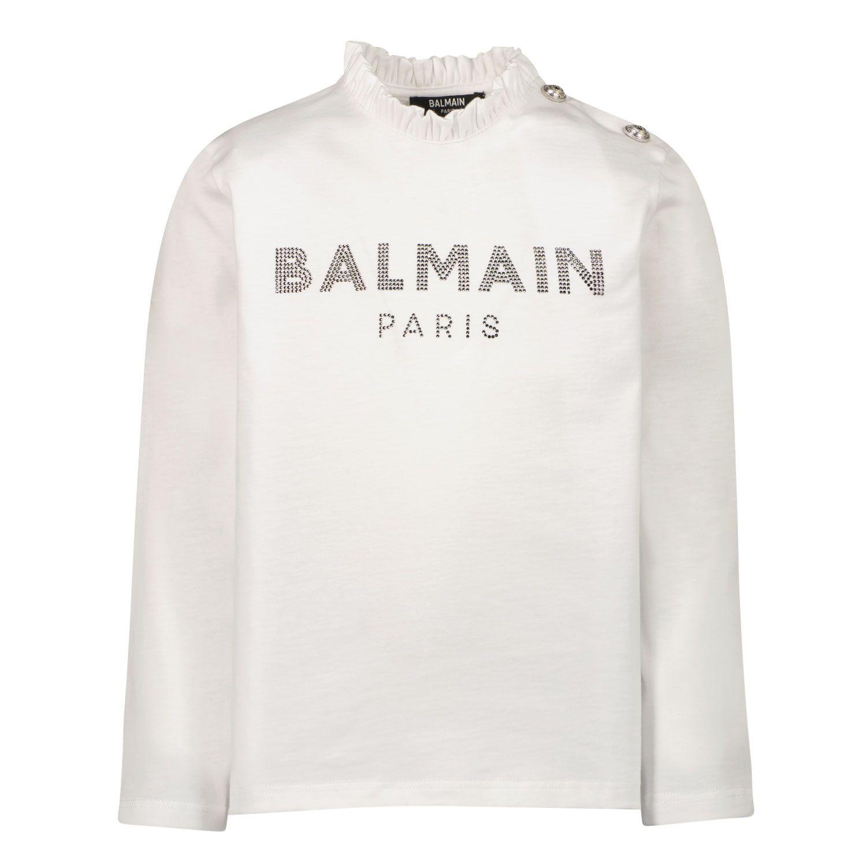 Bild von Balmain 6P8880 Baby-T-Shirt Weiß