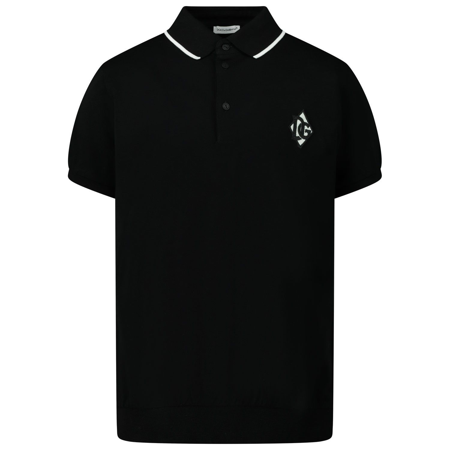 Picture of Dolce & Gabbana L4JTBJ / G7VYG kids polo shirt black