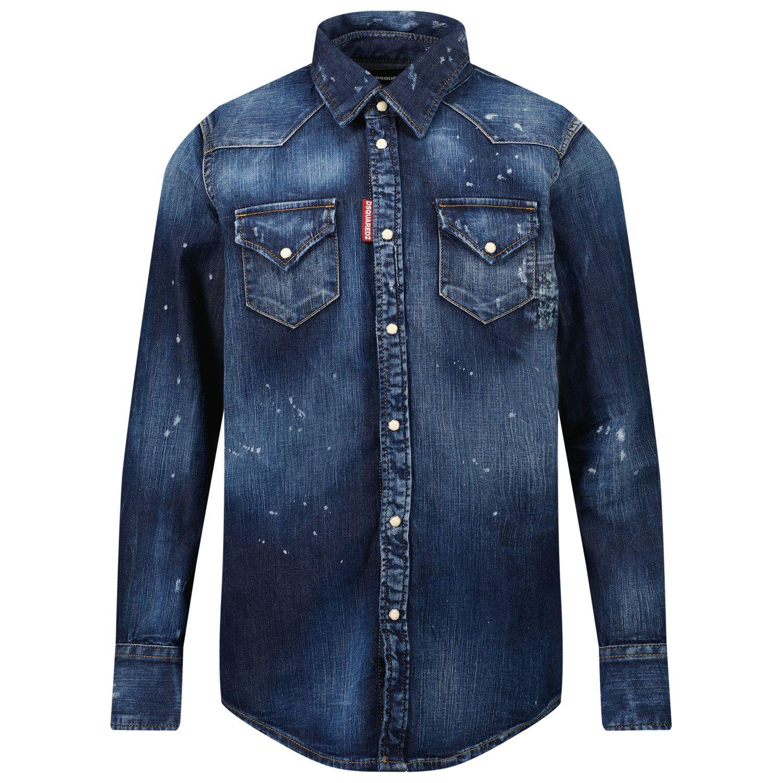 Afbeelding van Dsquared2 DQ02DG kinder overhemd jeans