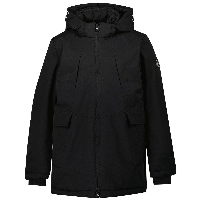Picture of Calvin Klein IB0IB00914 kids jacket black