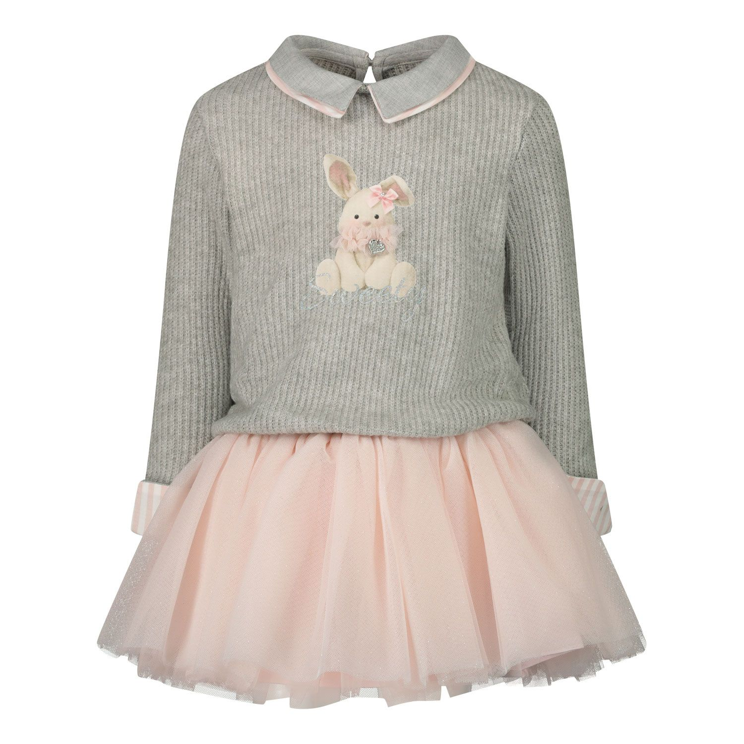 Picture of Lapin 202E3226 baby dress light gray