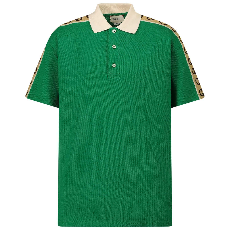 Bild von Gucci 620278 Kinder-Poloshirt Grün