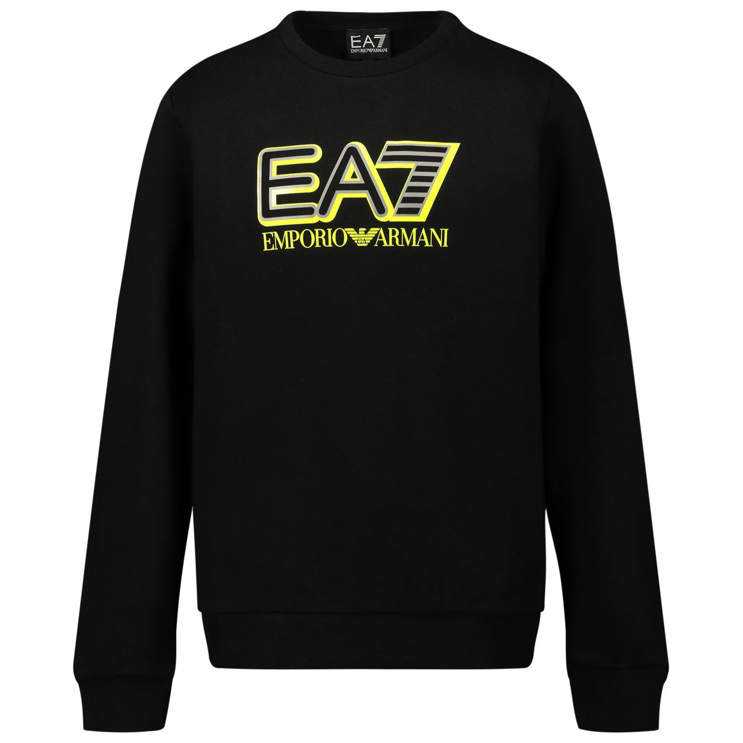 Picture of EA7 6HBM53 kids sweater black
