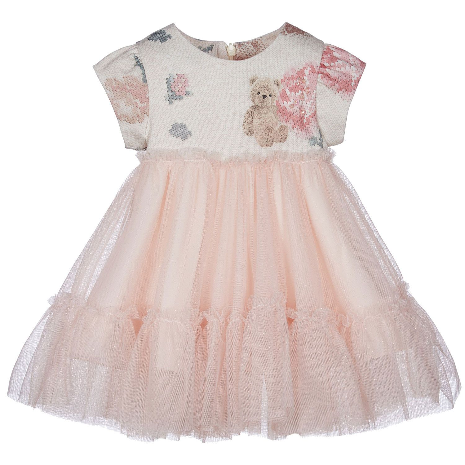Picture of Lapin 212E3212 baby dress light pink