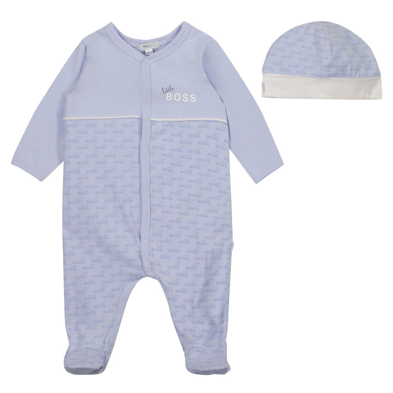 Bild von Boss J98329 Babystrampelanzug Hellblau