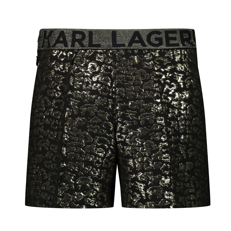 Afbeelding van Karl Lagerfeld Z14138 kinder shorts goud