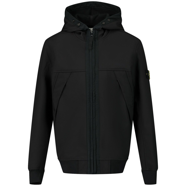 Picture of Stone Island MO7316Q0130 kids jacket black