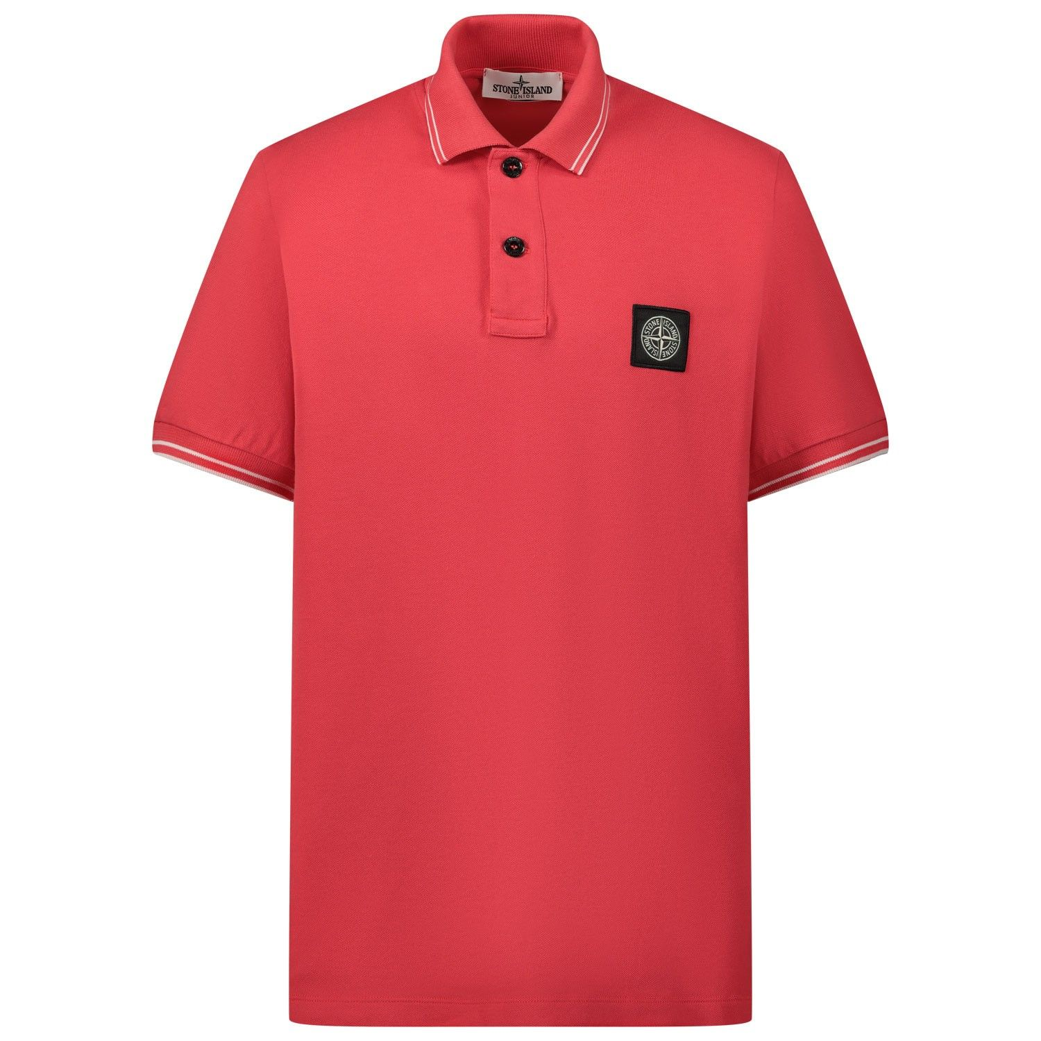 Picture of Stone Island 721621348 kids polo shirt red