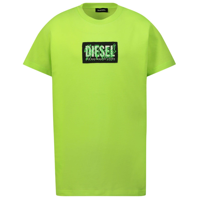 Bild von Diesel J00112 Kindershirt Neongrün
