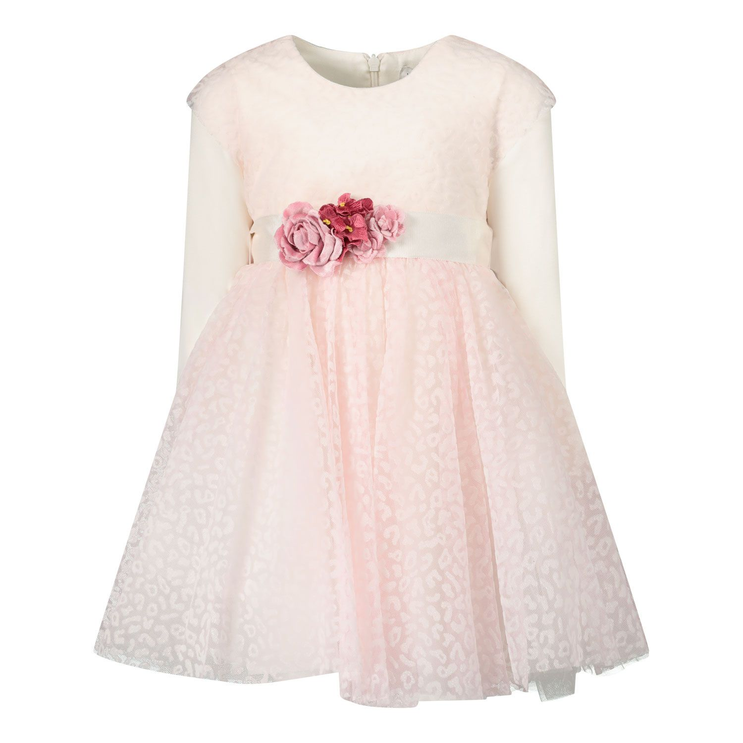 Picture of MonnaLisa 316923 baby dress light pink