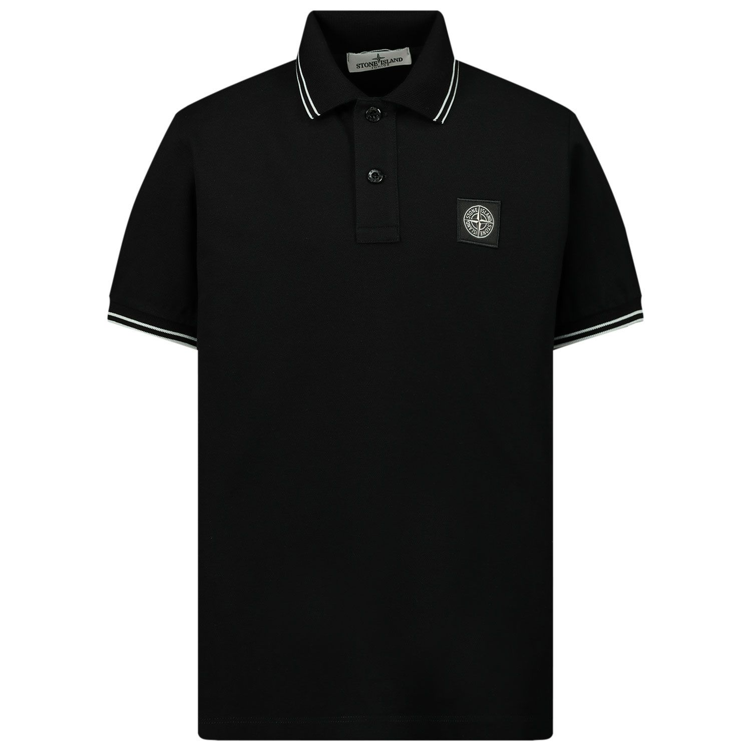 Picture of Stone Island 21348 kids polo shirt black