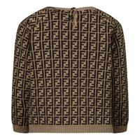 Picture of Fendi BUG061 baby sweater brown