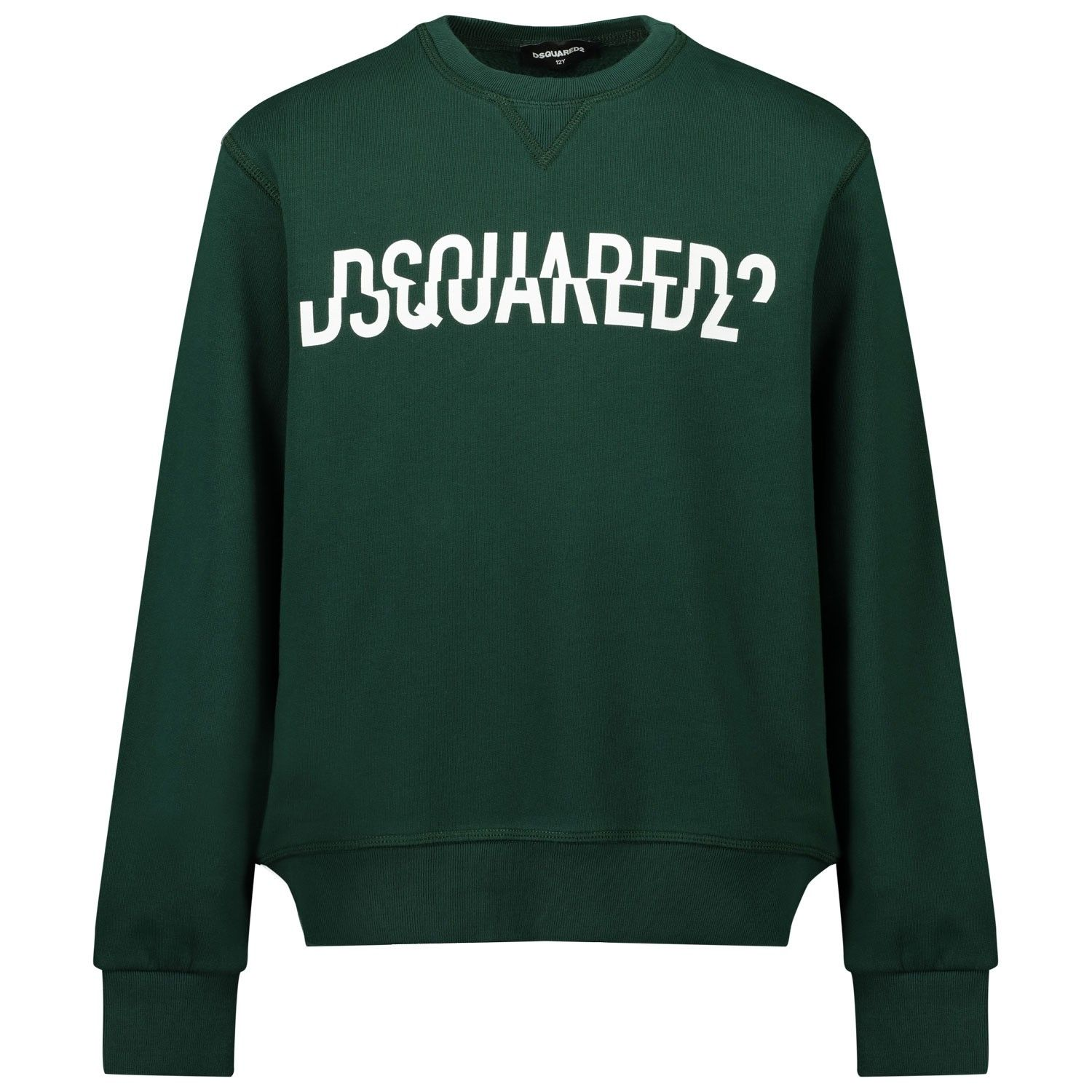 Picture of Dsquared2 DQ0475 kids sweater dark green