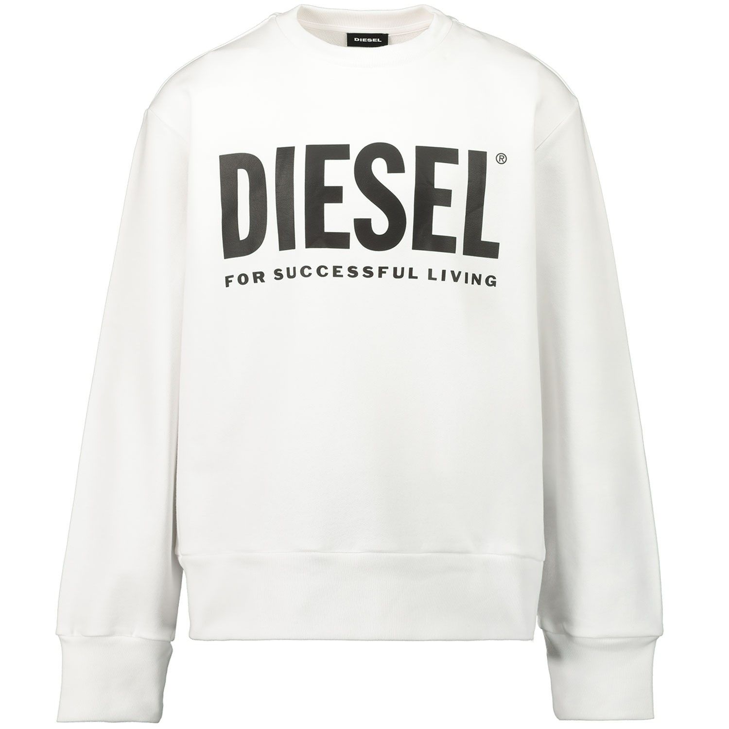 Picture of Diesel 00J4PQ kids sweater white