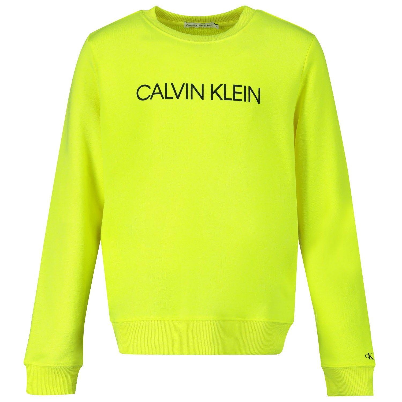 Picture of Calvin Klein IU0IU00162 kids sweater fluoro yellow