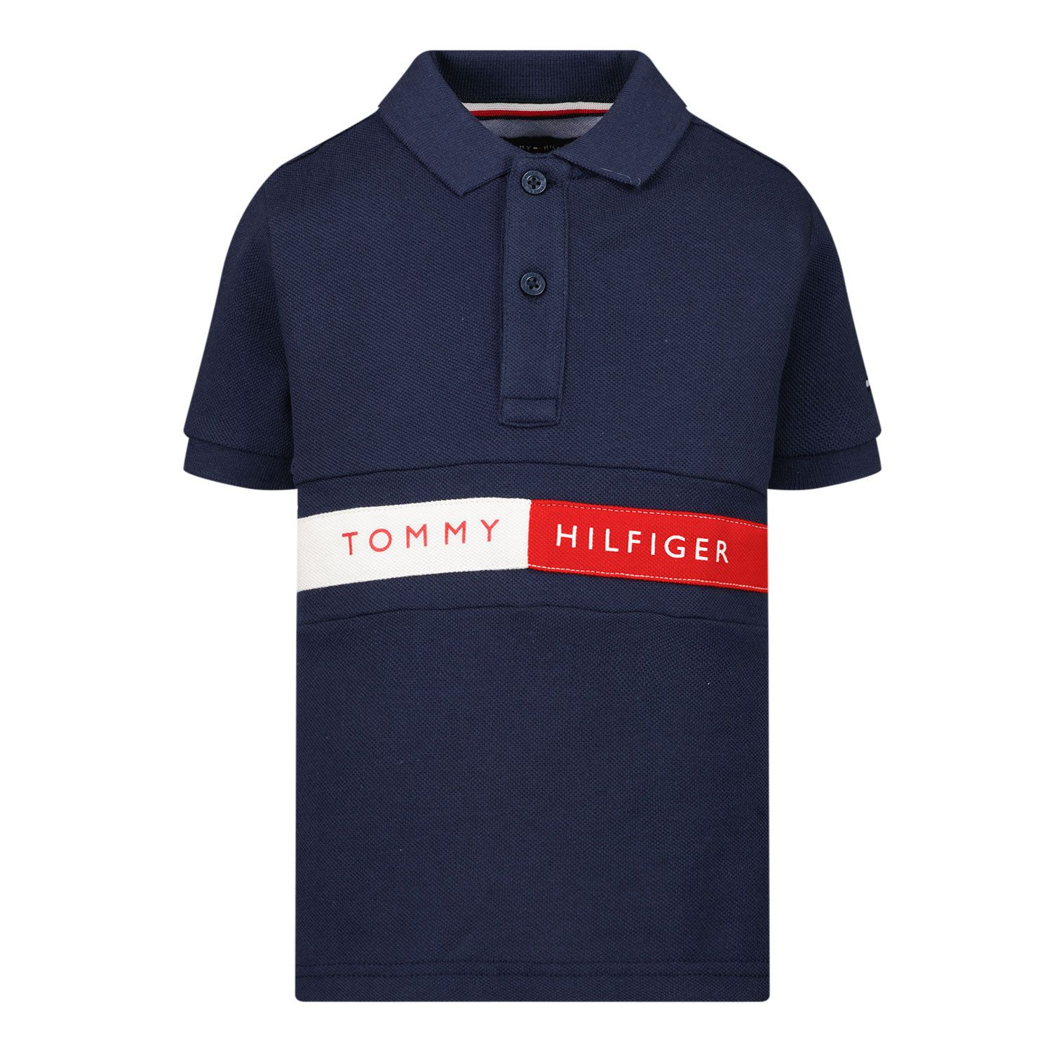 Picture of Tommy Hilfiger KB0KB06535 B baby poloshirt navy
