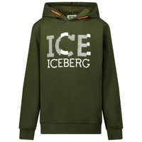 Picture of Iceberg MFICE0334J kids sweater army