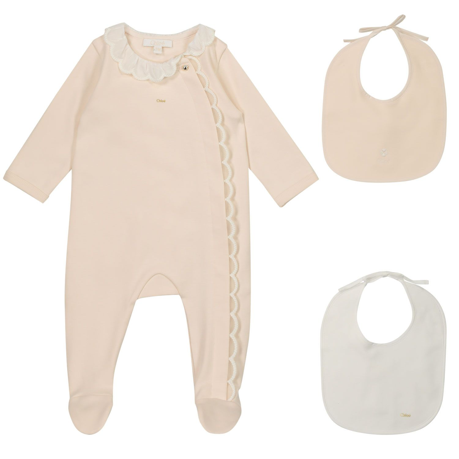 Picture of Chloé C97265 baby playsuit salmon