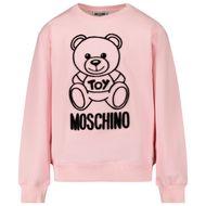 Afbeelding van Moschino HMF043 kindertrui licht roze