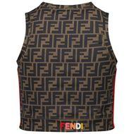 Afbeelding van Fendi JFI229 ADF3 kinder t-shirt bruin