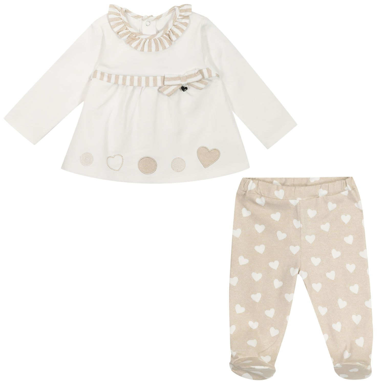 Picture of Mayoral 1559 baby playsuit taupe