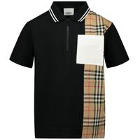 Picture of Burberry 8036416 kids polo shirt black