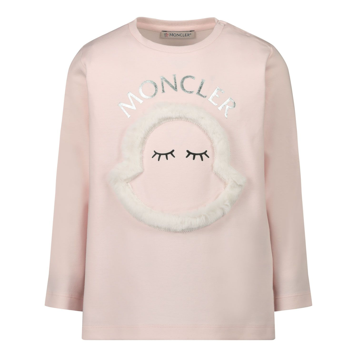 Picture of Moncler 8D71210 baby shirt light pink