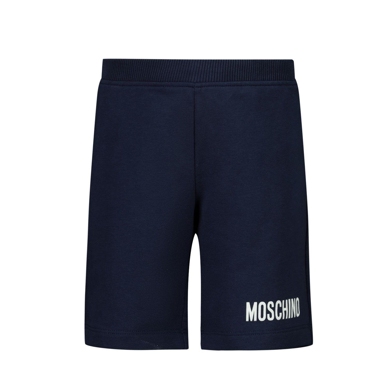 Picture of Moschino MUQ00C baby shorts navy