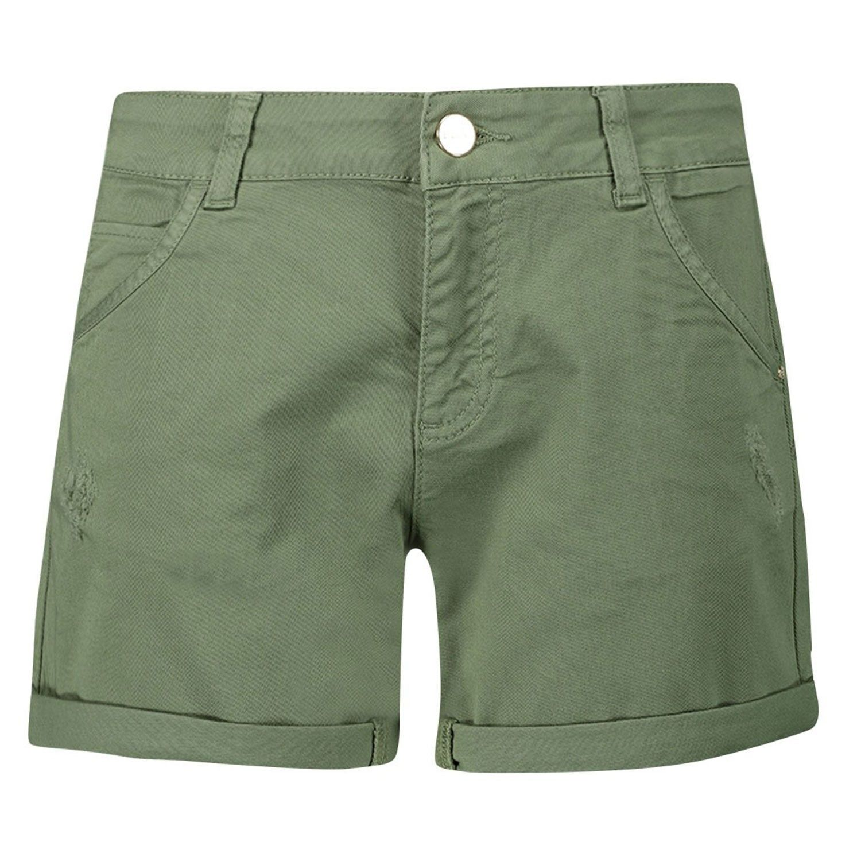 Picture of Liu Jo KA0081 kids shorts army