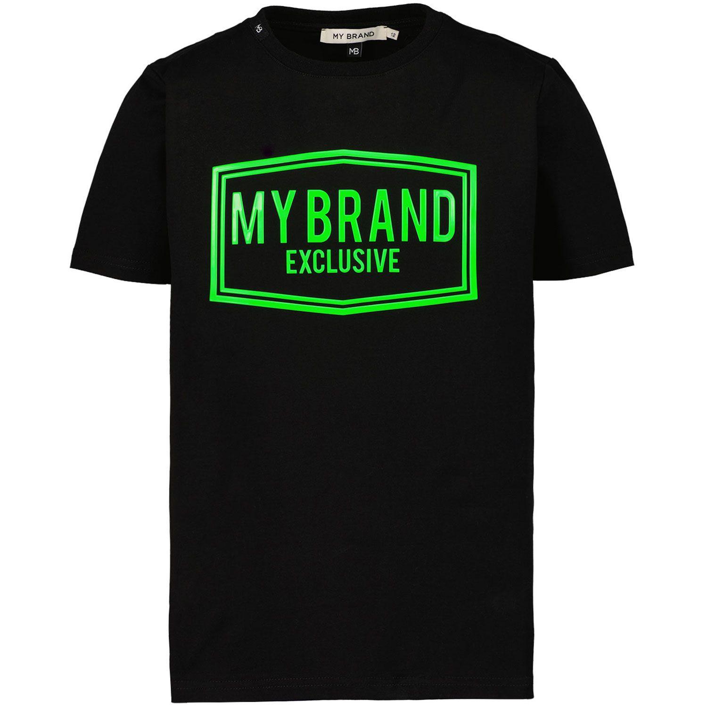 Picture of My Brand 3X21001C007 kids t-shirt black