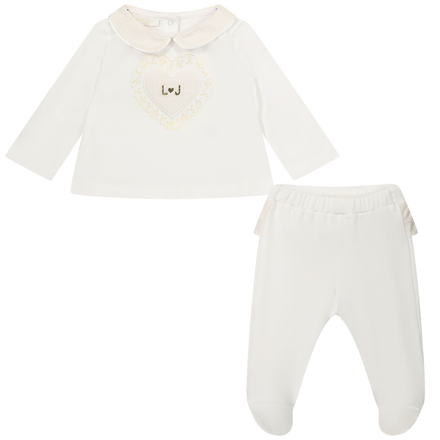 Picture of Liu Jo HA1038 baby playsuit white