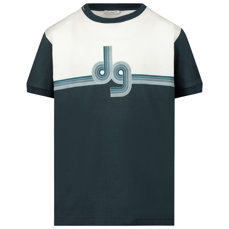Afbeelding van Dolce & Gabbana L4JT8A G7WRS kinder t-shirt blauw