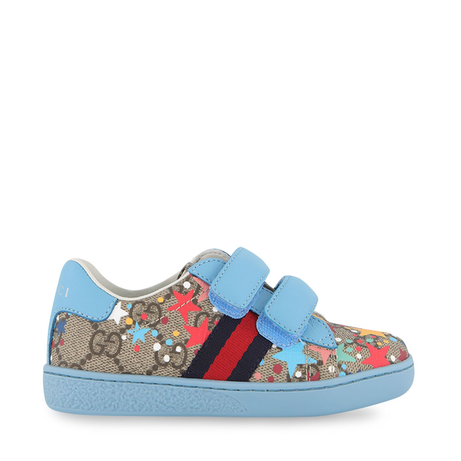 Picture of Gucci 463088 2R610 kids sneakers light blue