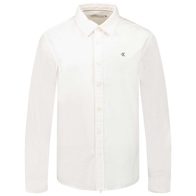 Afbeelding van Calvin Klein IB0IB01025 kinder overhemd wit