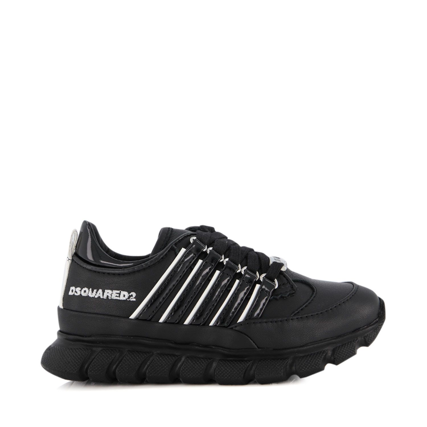 Picture of Dsquared2 65111 kids sneakers black