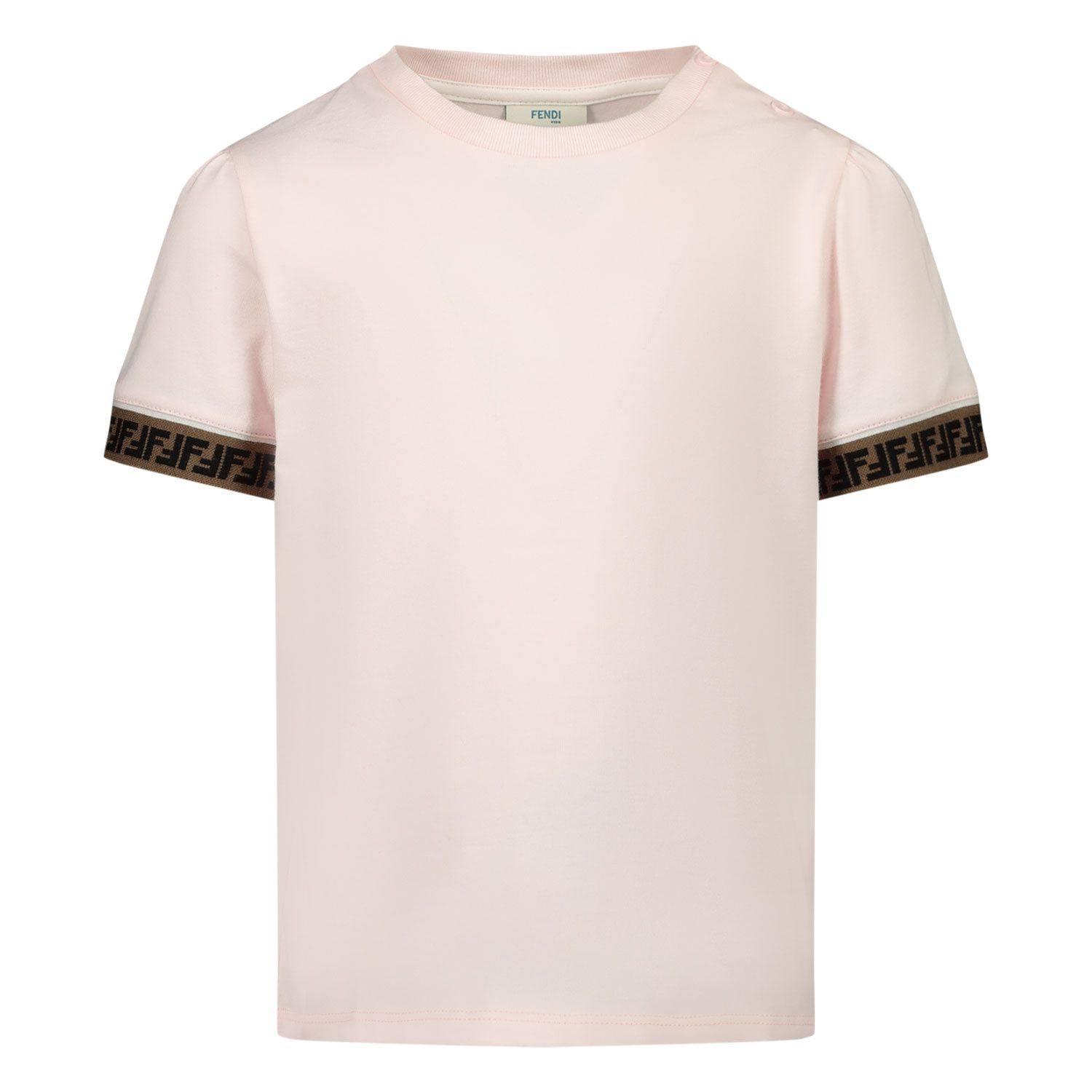Picture of Fendi BFI117 ST8 baby shirt light pink