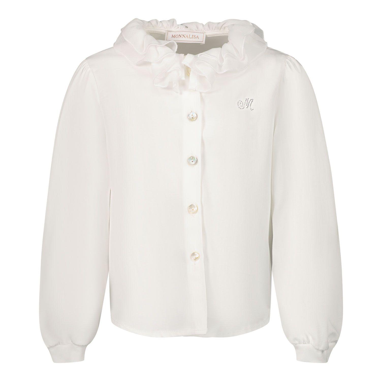 Picture of MonnaLisa 378PAT baby blouse ecru