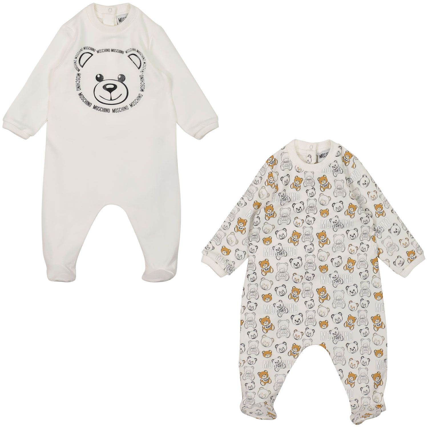 Picture of Moschino MOY02C baby playsuit white