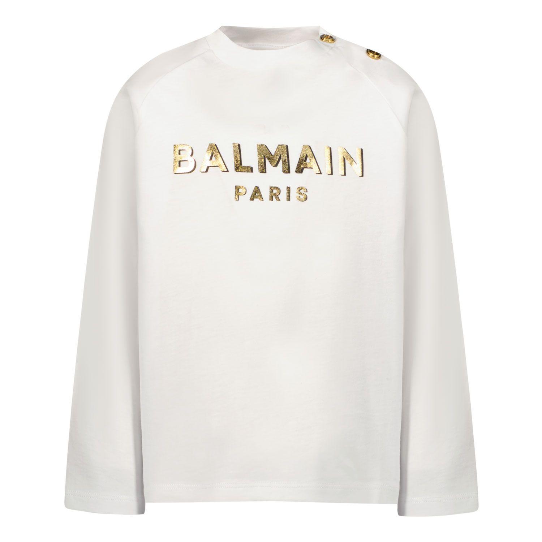 Afbeelding van Balmain 6P8B20 baby t-shirt wit