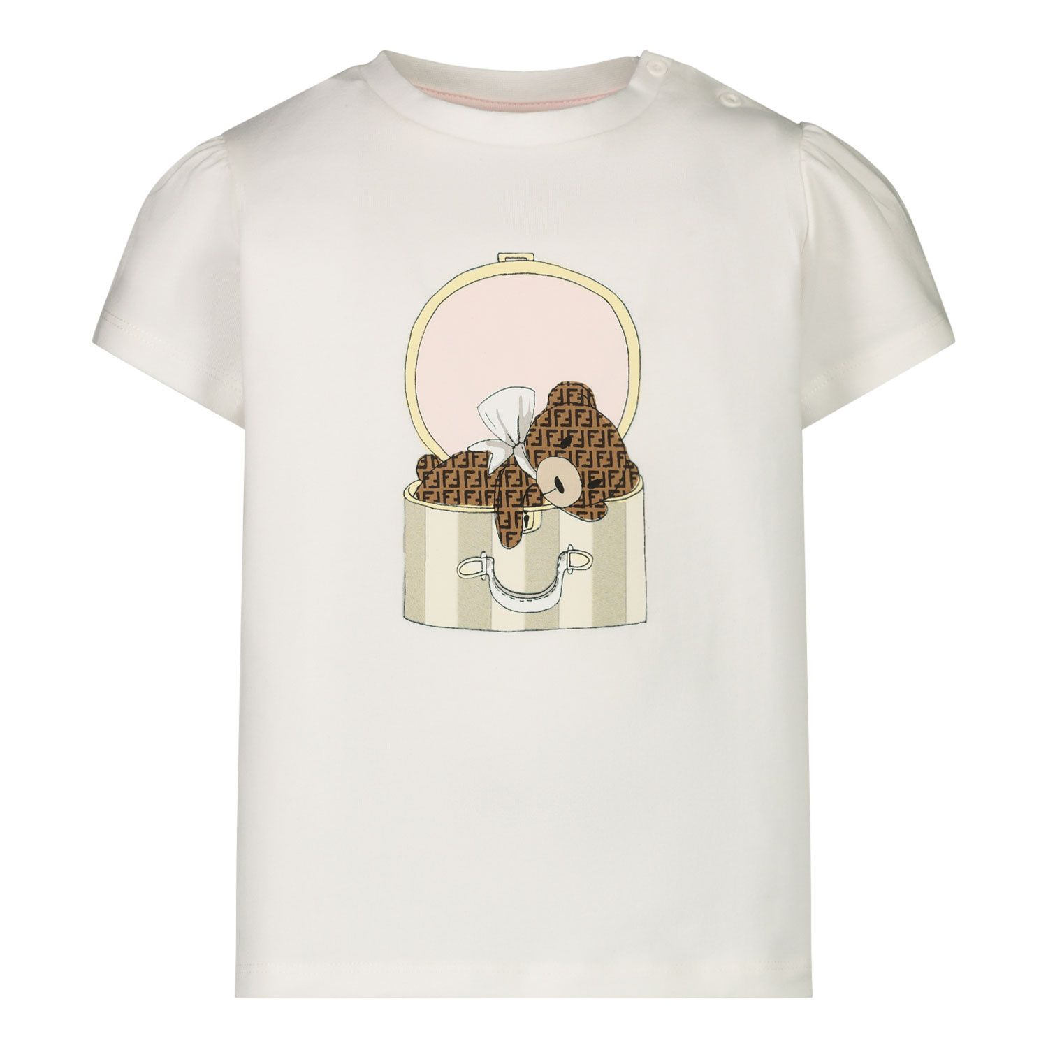 Picture of Fendi BFI116 baby shirt off white