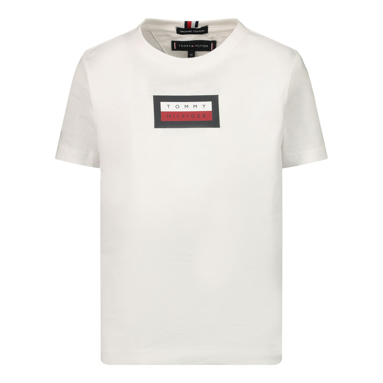 Afbeelding van Tommy Hilfiger KB0KB06518B baby t-shirt wit