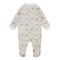 Picture of Moschino MUY03F baby playsuit white